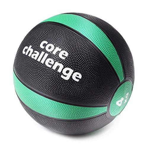 メディシンボール 4kg 『マニュアル付き』 筋トレ ラバー製 体幹トレーニング 瞬発力アップ 週2回の軽い負荷で大きな効果 【Fungoal】