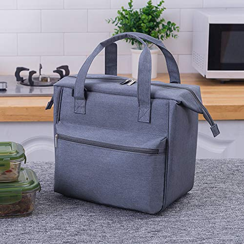 Nsulated Lunch Bag Tote Bag for Women Wide Open Insulated Cooler Bag Water-Resistant Thermal Leak-Proof Lunch Organizer for Men Girls Children Outdoor Picnic Work,27x16x15cm