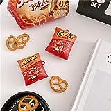 Custodia per AirPods 1 e 2 pro Custodia protettiva per cuffie divertenti in 3D Patatine fritte divertenti-Patatine fritte+gancio_per AirPods pro