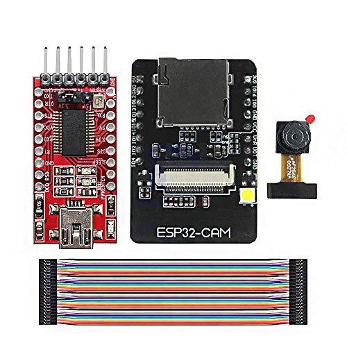 Weit verbreitet ESP32-CAM WiFi + Bluetooth-Entwicklungsplatine ESP32 mit FT232RL FTDI USB bis TTL Nichtparalleler Konverter 40 Pin-Jumper-Kabel für Arduino - Produkte, die mit verschriebenen Arduino-B
