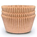Cupcake Baking Cup Liner – Jumbo Size, Extra Thick, Unbleached Brown Disposable Cup Parchment Liner for Baking– Food Grade & No Smell – Muffin Paper Baking Cups by NextClimb (Jumbo, Pack of 50)