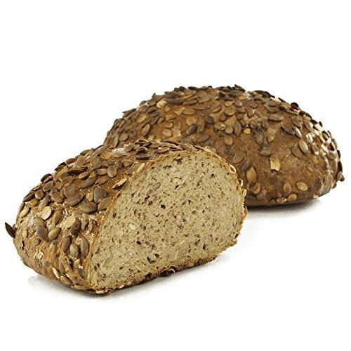 Vestakorn Handwerksbrot, Kürbiskernbrot 750g - frisches Brot – Natursauerteig, selbst aufbacken in 10 Minuten