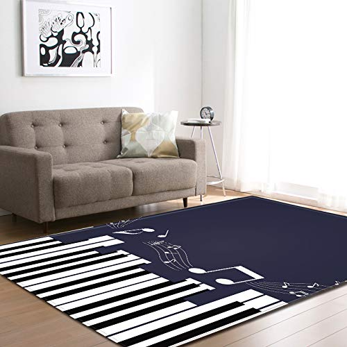 Oukeep 3D Piano Pattern Carpet Durable And Washable Door Mat Suitable For Bathroom, Bedroom, Living Room