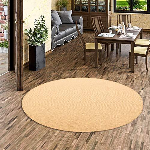 Snapstyle Sisal Natur Teppich Astra Honig Rund in 7 Größen