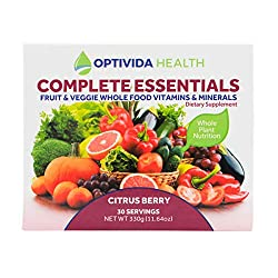 Optivida Health — Fruit & Vegetable Complete Essentials — Dietary Supplement with Whole Foods, Vitamins & Minerals — Organic, Non-GMO Probiotics and Immune System Booster — 30 Day Supply