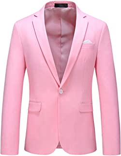 JUANFAQI Purple Red Sky Blue Pink Brown Yellow Green Blazer for Men Slim Fit Mens Casual Blazer Jacket