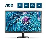 AOC E2070SWHN 19.5' HD 1600x900 Monitor, 5ms, HDMI/VGA, Vesa, Epeat Silver, EnergyStar, 20 Inch HD+