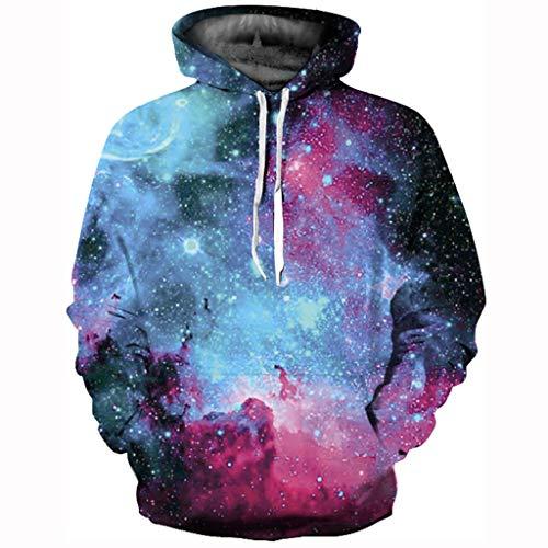 Yesmile Halloween Unisex 3D Kapuzenpullover Hoodie Halloween Cosplay Sweatshirt Hooded Sweat Einzigartig Galaxie Pullover