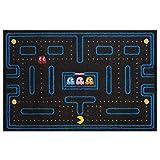 VBTDEGAB Pac-Man Alfombra para Puerta de Entrada a casa y jardín, 40x60x1,5 cm, Alfombra Antideslizante, Lavable.