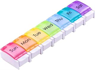 Weekly Pill Organizer 7 Day Pill Container, Travel and Large Compartment Vitamins Pill Organizer, Nitroglycerin Pill Holder