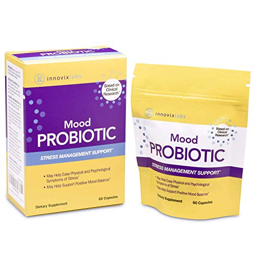 InnovixLabs Mood Probiotic, 60 Capsules, Lactobacillus helveticus Rosell-52ND & Bifidobacterium longum Rosell-175, 1st Probiotic Formula Clinically Studied for Mood Health, Probiotics for Men & Women