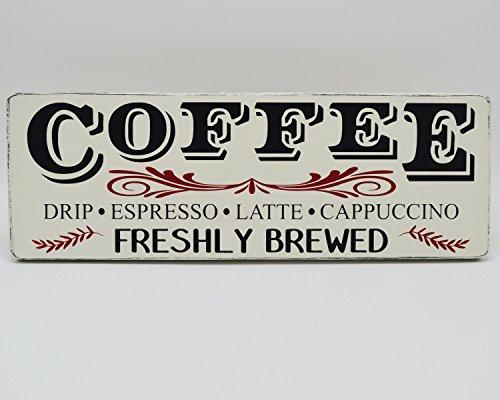 Norma Lily Kaffee Holz Kaffee Schild Kaffee Bar Frisch gebrühten Rustikal Holz Schild Fixer Oberen Style Farmhouse Küche Decor Farmhouse Wand Decor