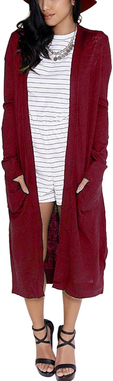 Eliacher Women Sweaters Open Front Lightweight Soft Knit Cardigan(10 color SXXL)