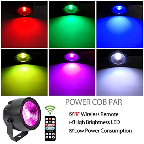 KOOT DJ Wash Light, DMX Stage COB LED Wedding Up Lighting Stage Disco Lights with 7 DMX Control and Remote Control, for Party Bar Club Church Dance