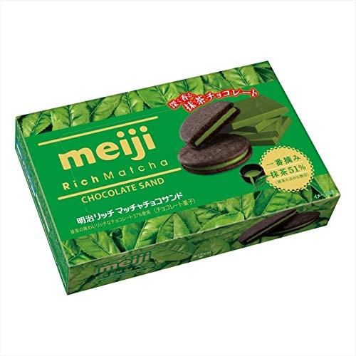 明治 リッチ抹茶チョコサンド 6枚 ×5箱