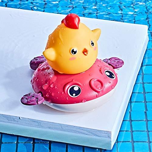 WWWL Juguetes de baño Juguetes de baño de bebé Rociar Ducha de Agua niños Nadar Piscina bañando Juguetes para hilar Barco con Juguetes de bañera Divertidos para los niños pequeños Red