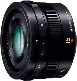 Panasonic LUMIX G LEICA DG SUMMILUX 15mm / F1.7 ASPH. H-X015 -K (Black) - International Version (No Warranty)