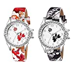 Watch City Jay Enterprise Analogue Multicolour Dial Girl's and Women's Watch -Combo of