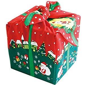 Maeda Furoshiki Japanese Wrapping Cloth Christmas 50 x 50cm