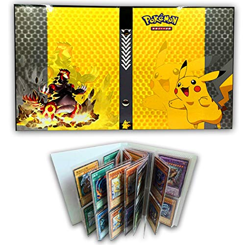 HanFashion Card Album Compatible with Pokemon Cards, Card Holder, Binder Cards Album Book Best Protection Trading Cards /GX/EX /Put up to 240 Cards, Pikachu Cover