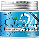 All Natural Neck Firming Cream Anti Aging Moisturizer for Breast Chest & Decollete Anti Wrinkle Cream Saggy Neck Skin Tightener