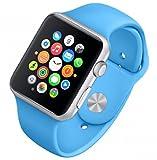 APPLE(アップル) Apple Watch Sport アルミニウム シルバー 42mm ブルースポーツバンド MJ3Q2J/A