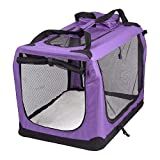 AVC Portable Soft Fabric <span class='highlight'>Pet</span> <span class='highlight'>Carrier</span> Folding Dog Cat Puppy Travel Transport Bag (Large, Purple)