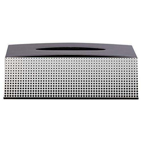 Sealskin 361890819 Distributeur de mouchoirs Speckles ABS Noir/Blanc Accessoire de Salle de Bains, Plastique, 13,7 x 25,4 x 8,5 cm