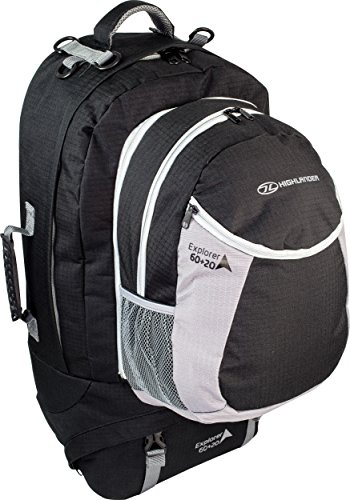 HIGHLANDER Explorateur Sac à dos Noir 60 + 20 L