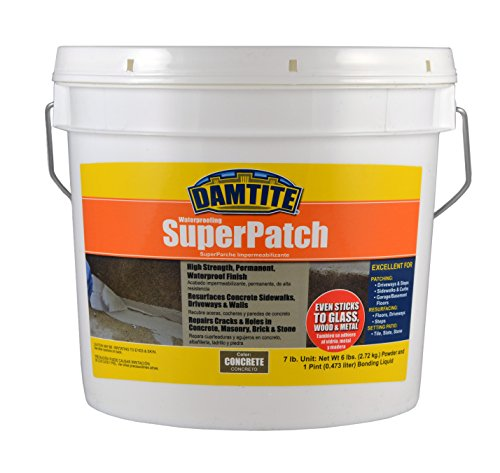 Damtite 04072 Concrete Super Patch Repair, 7 lb. Pail