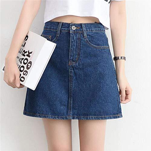 Rok Fashion Koreaanse Lente Zomer Rok van de Vrouwen High Waist Mini Rokken Jeans Plus Size Katoen Meisjes Zwarte Rok JIUTAO