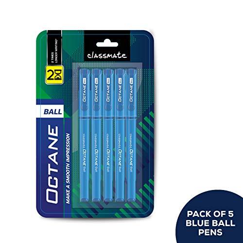 Classmate Octane Ball Pen (Blue)- Pack of 5
