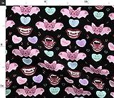 Spoonflower Stoff – Vampir Valentine Goth Halloween