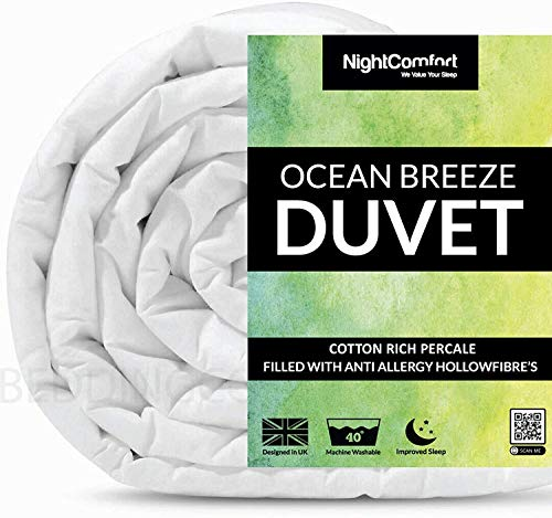 Night Comfort Rich Cotton Summer Cool Ocean Breeze Bed Duvet Blended Quilt (1.5 Tog, King)