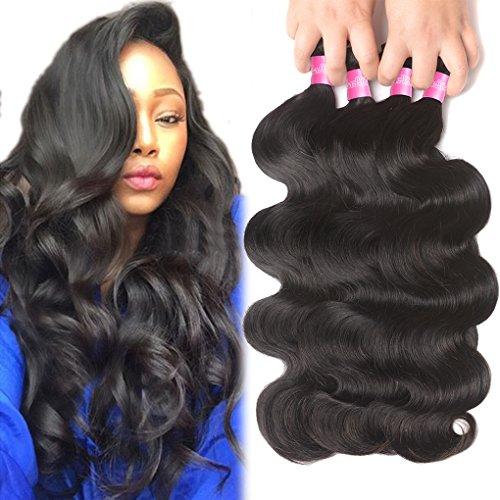 4 Bundles Brazilian Hair Bundles 22 24 26 28inch 10A Brazilian Body Wave Virgin Hair Bundle Deals Unprocessed Remy Human Hair Weaves Brazilian Hair Extensions