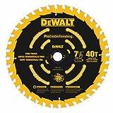 DEWALT 7-1/4' Circular Saw Blade, Precision Framing, 40-Tooth (DW3194)