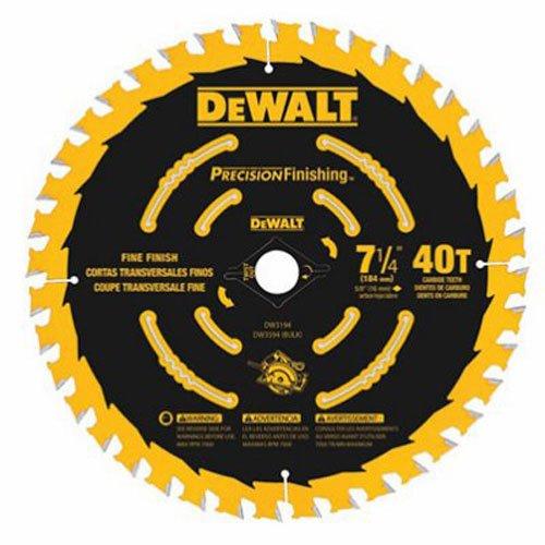 DEWALT 7-1/4 Circular Saw Blade, Precision Framing, 40-Tooth (DW3194)