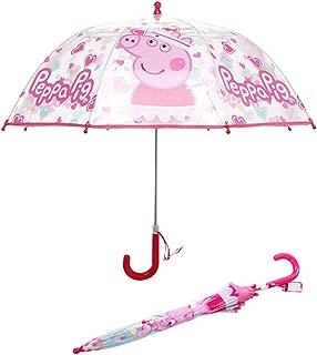 Clear Bubble Umbrella,Rain Windproof Transparent Dome Umbrella For 2-8 Years Kids