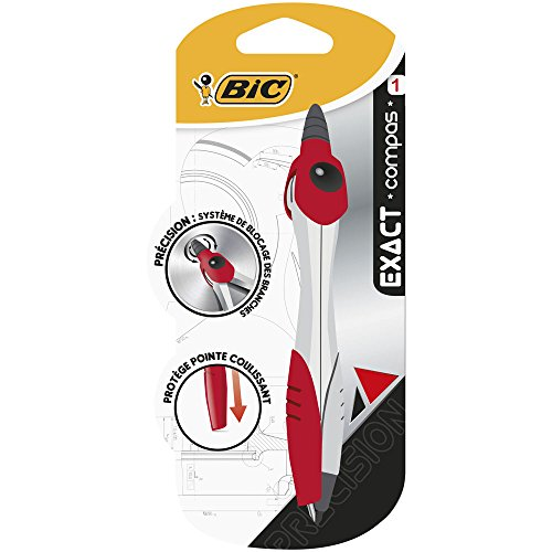 BIC Exact Compas Mine - Corps Métallique, Blister de 1