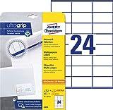 AVERY Zweckform 3490 Adressaufkleber A4 (mit ultragrip, 70x36 mm, 30 Blatt, Papier matt,...