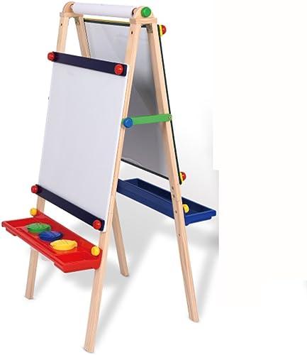 calidad garantizada QFFL Juego de tablero de dibujo para Niños de de de madera maciza Easel Cuadro de estilo pequeño para armarios de estilo Lift negroboard de dos lados con pizarra magnética de dos lados Bloc de dibujo  hasta un 65% de descuento