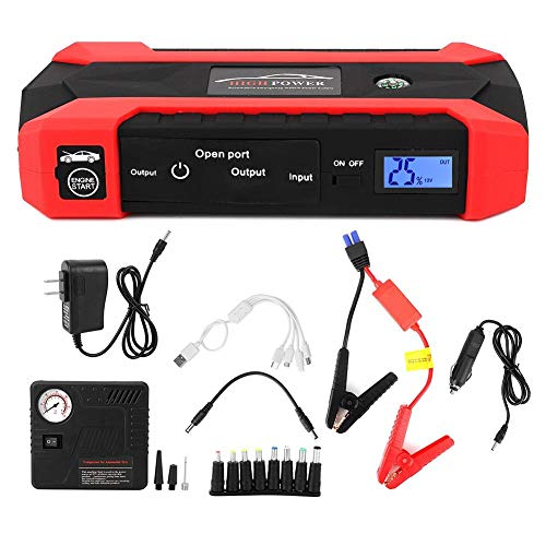 Amazing Deal Acouto Car Jump Starter Kit,12V 20000Mah Multifunctional Car Jump Starter Emergency Pow...