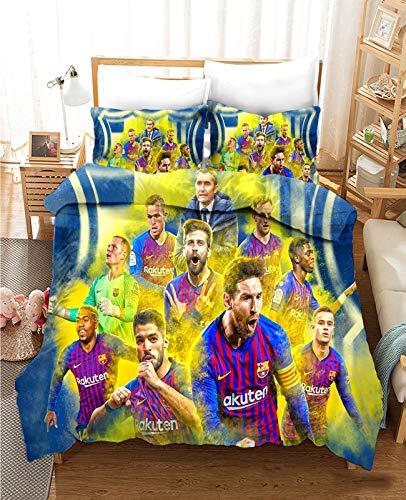 XY&CF Conjunto de Ropa de Cama FC Barcelona, Cubierta de fútbol de...