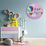 """Wanddeko Kinderzimmer, Wandbild Acrylbild""""Above the clouds_rosy"""", Acryl auf Leinwand, Kunst für Kinder, Kinderzimmerausstattung, Heißluftballon Wolken"""