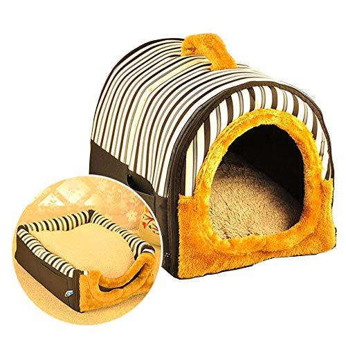 Anjing Casa de mascotas 2 en 1 y sofá portátil antideslizante para perros y gatos iglú camas para mascotas