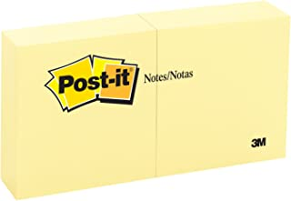 Post-it Notes, 3 in x 3 in, Canary Yellow, 6 Pads/Pack, 100 Sheets/Pad (654-6YW)