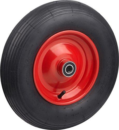 Metafranc 810940 pneumatisk hjuldiameter 400 mm butylslang stål fälg typ 4,80/4,00-8 - 250 kg lastkapacitet kullager/komplett hjul med fälg/skottra hjul/skoterhjul/reservhjul