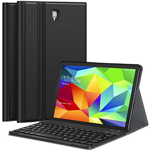 Earto toetsenbord hoes compatibel met Samsung T830/T835 Galaxy Tab S4 10.5 Tablet-PC, licht standfunctie hoes met afneembaar draadloos bluetooth-toetsenbord