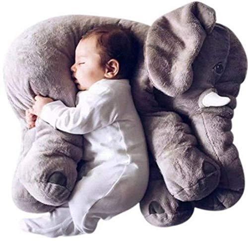 Regenboghorn Baby Kinder Elefant Kissen Plüschtiere Spielzeug Nickerchen Kissen (Grey-1)