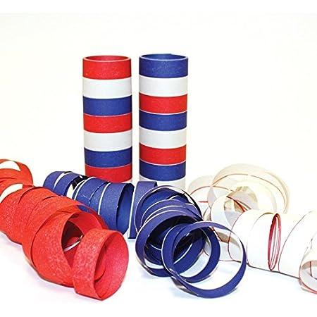 Pack of 3 amscan International Serpentine Streamer Red//Blue//Green//Yellow